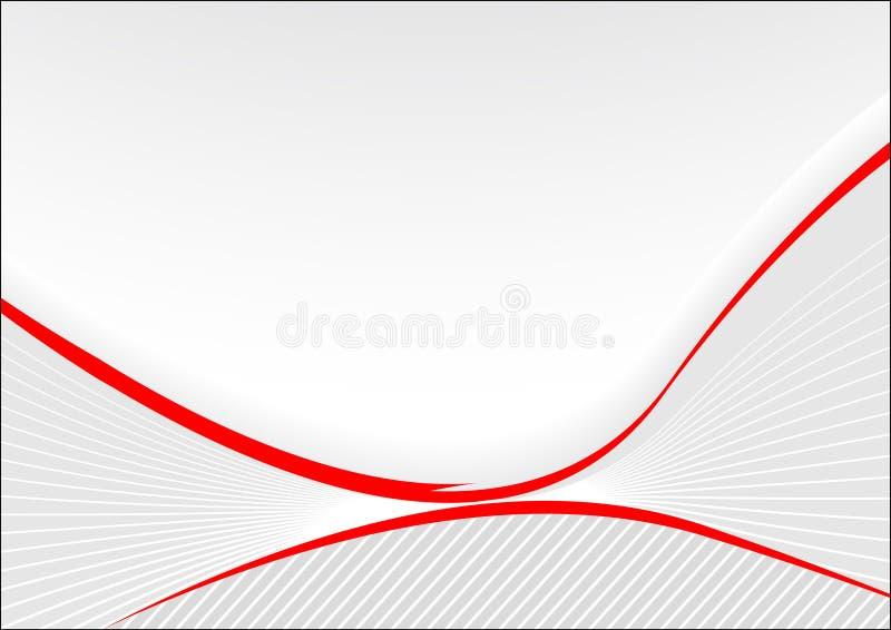 红色看板卡灰色的线路 向量例证