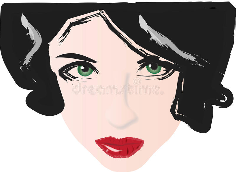 Download 红色眼睛绿色的嘴唇 向量例证. 插画 包括有 beauvoir, 醉汉, 唇膏, 红色, 化妆用品, 闷燃 - 10228939