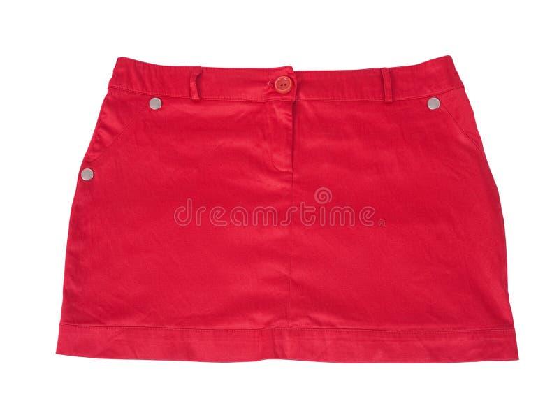红色短裙 免版税库存图片