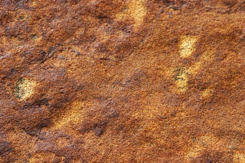 红色石纹理 免版税库存照片