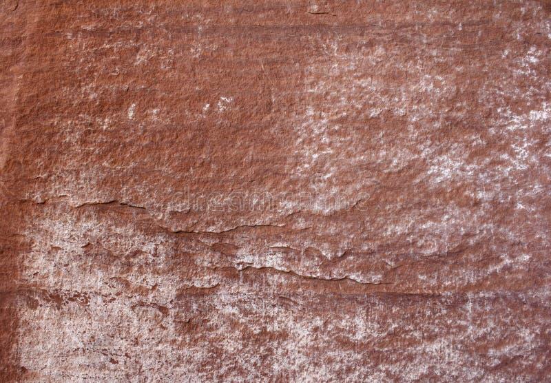 红色石表面 免版税库存照片