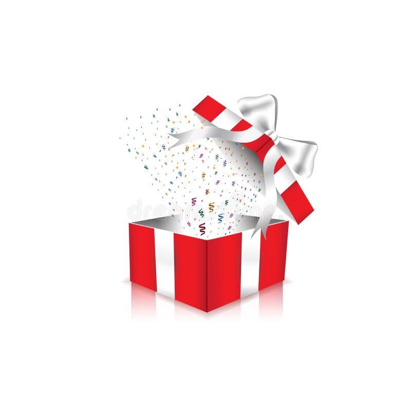 红色礼物盒 皇族释放例证