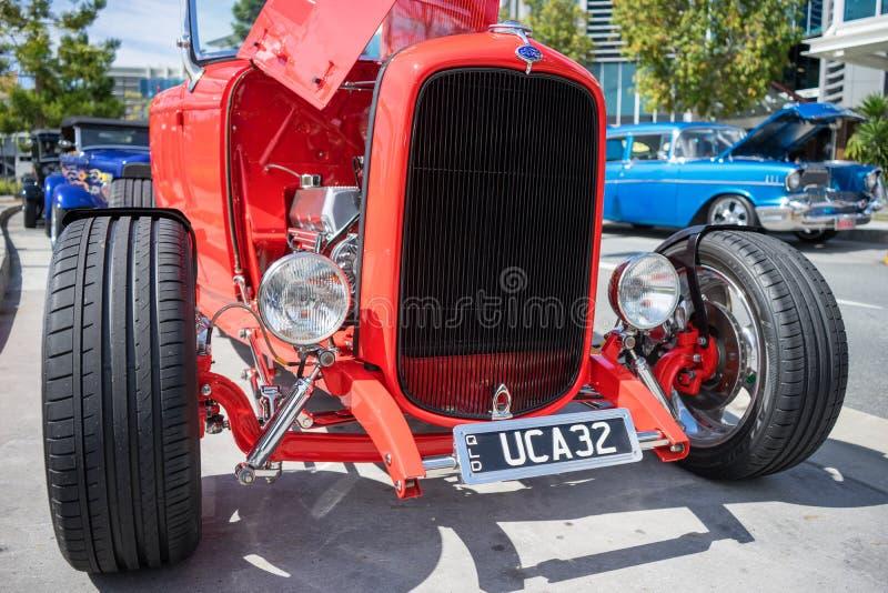 红色福特hotrod 图库摄影