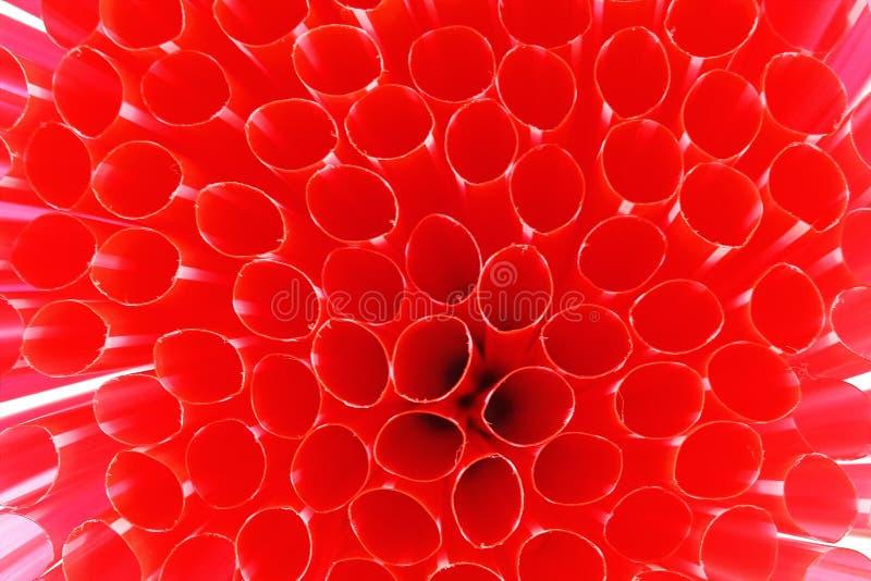 红色秸杆背景 库存照片