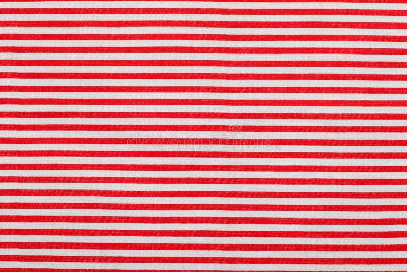 红色空白水平的细条纹模式 库存照片