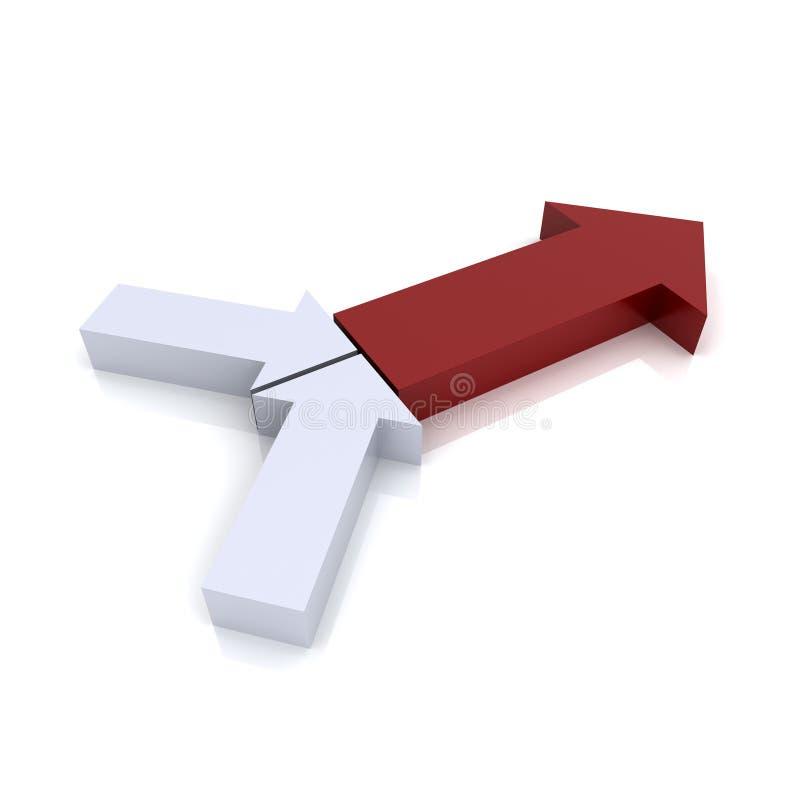 红色符号转换 库存例证