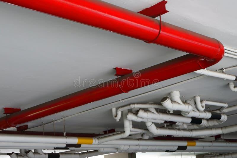 红色管子 库存照片