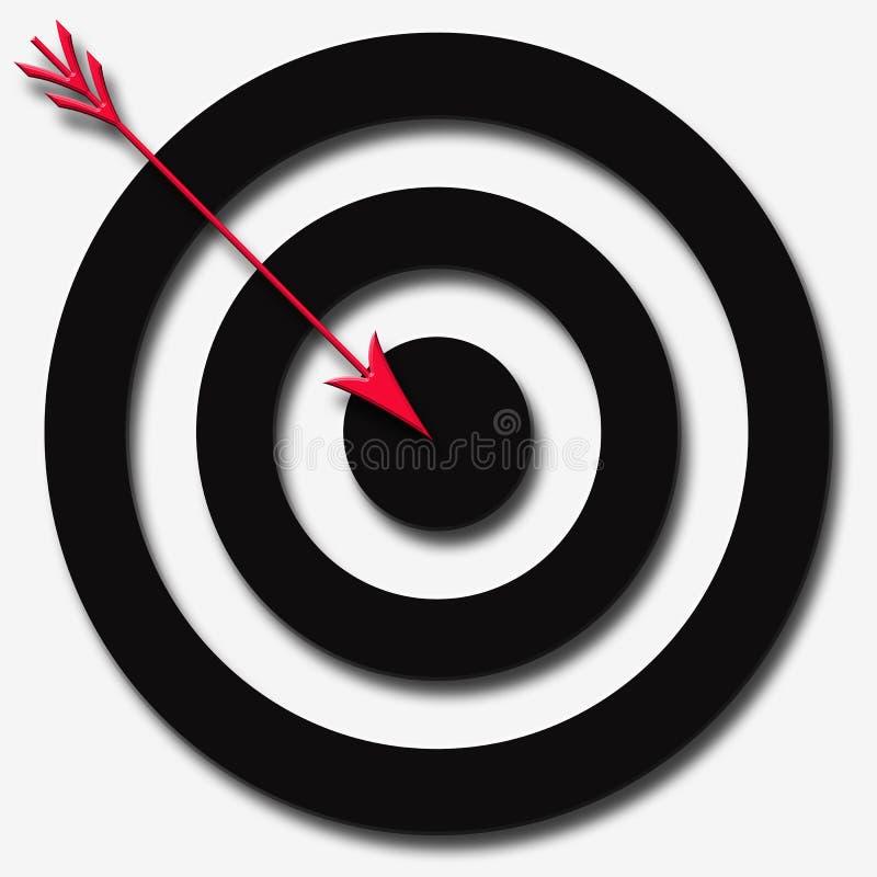 红色箭头黑色的圈子 皇族释放例证