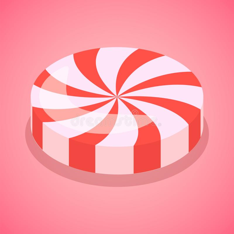 红色糖果漩涡象,等量样式 库存例证