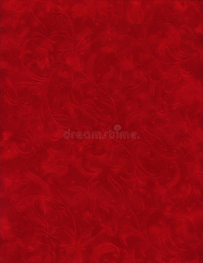 红色系列构造天鹅绒 免版税库存照片