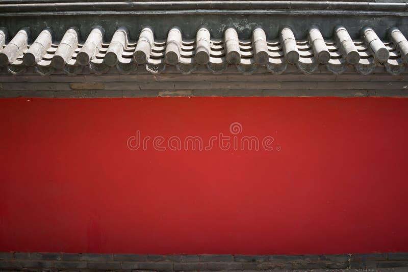 红色纹理墙壁 库存照片