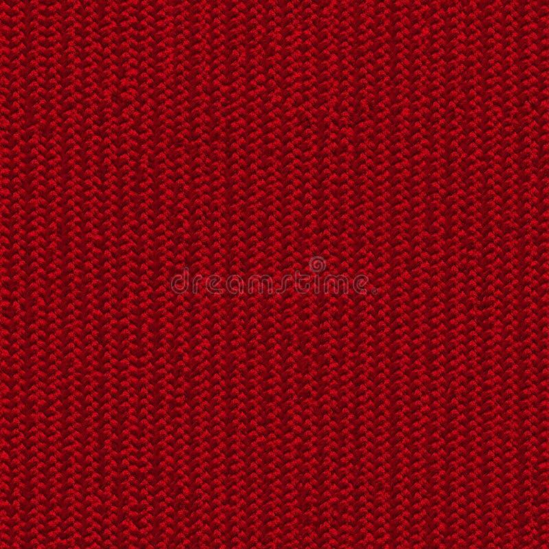 红色织品无缝的纹理 3d和第2的纹理地图 库存照片