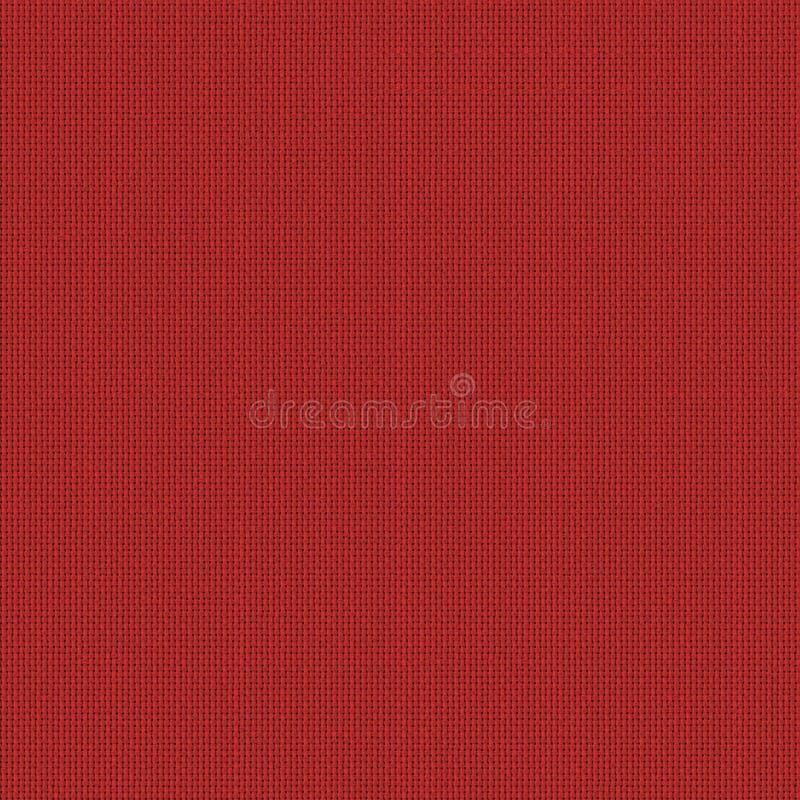 红色织品无缝的纹理 3d和第2的纹理地图 免版税库存图片