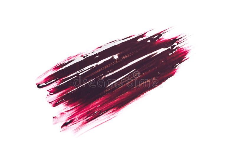 红色织地不很细唇膏冲程 库存图片
