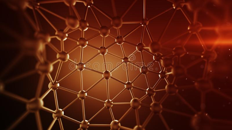 红色结节线和结网络提取3D翻译 向量例证