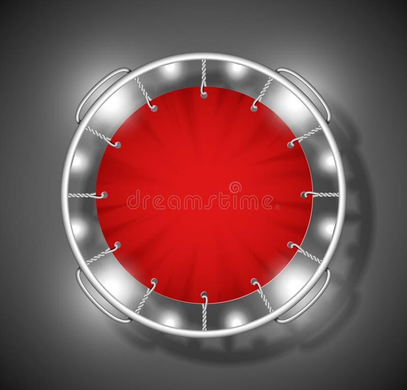 红色绷床 皇族释放例证