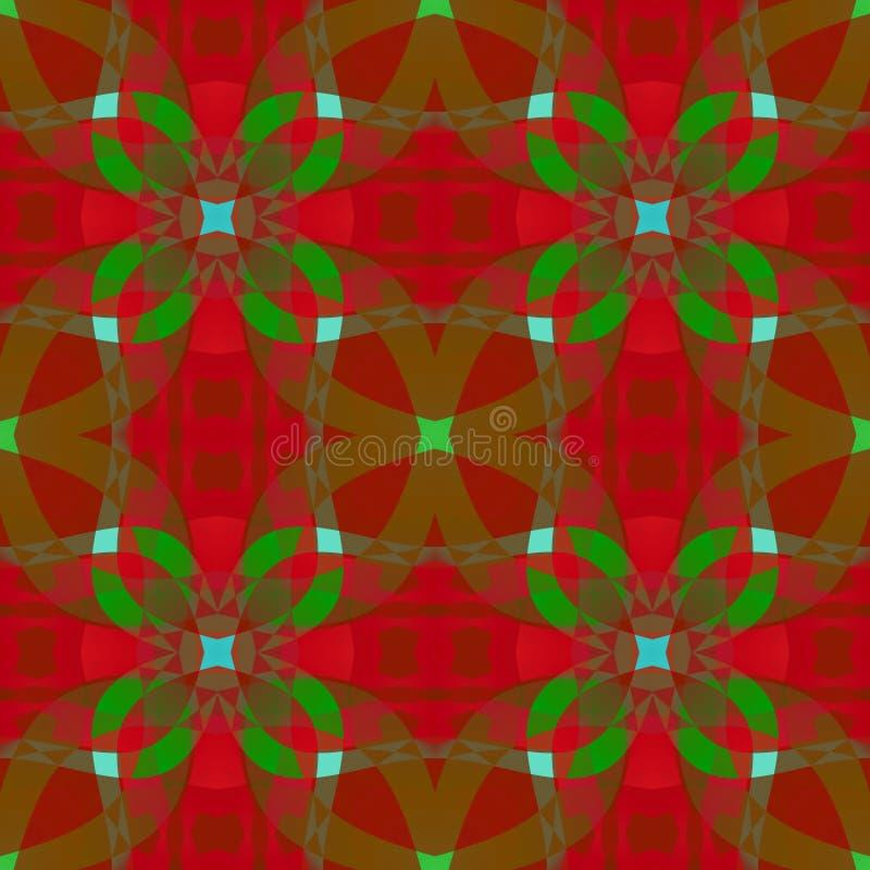 红色绿色抽象纹理 圣诞节丝带纺织品印刷品样式 方形的无缝的瓦片 简单的背景例证 家de 向量例证