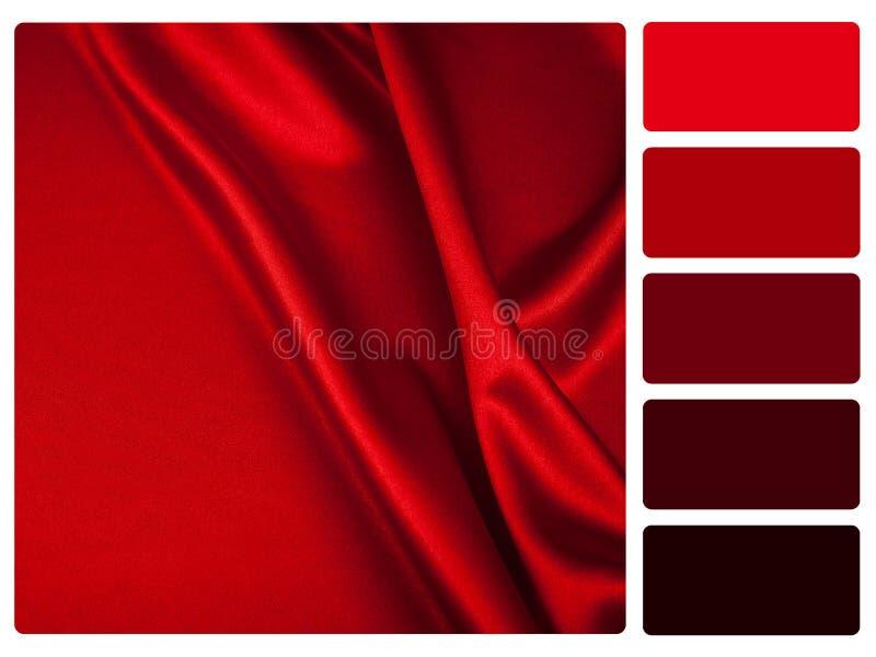 红色缎色板显示样片 皇族释放例证