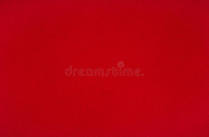 红色羊毛台面呢 免版税库存照片
