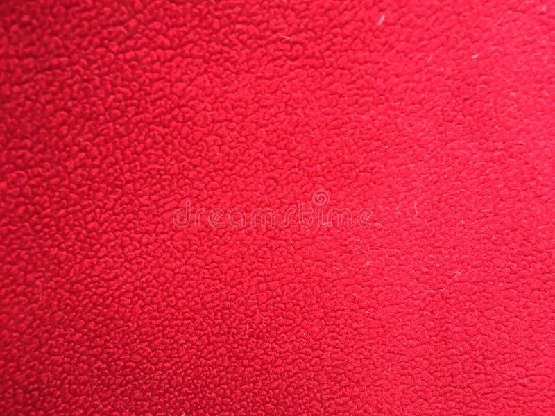 红色羊毛背景 库存照片
