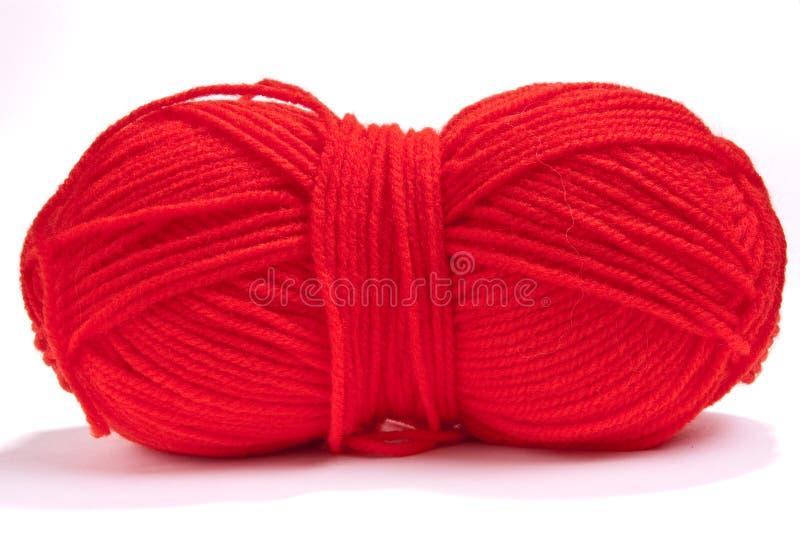 红色羊毛 图库摄影