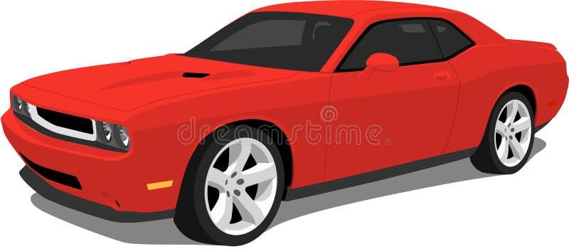 红色美国肌肉汽车 皇族释放例证