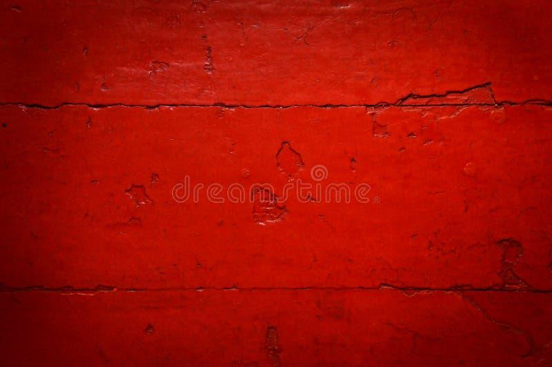 红色老被弄皱的木地板 库存照片