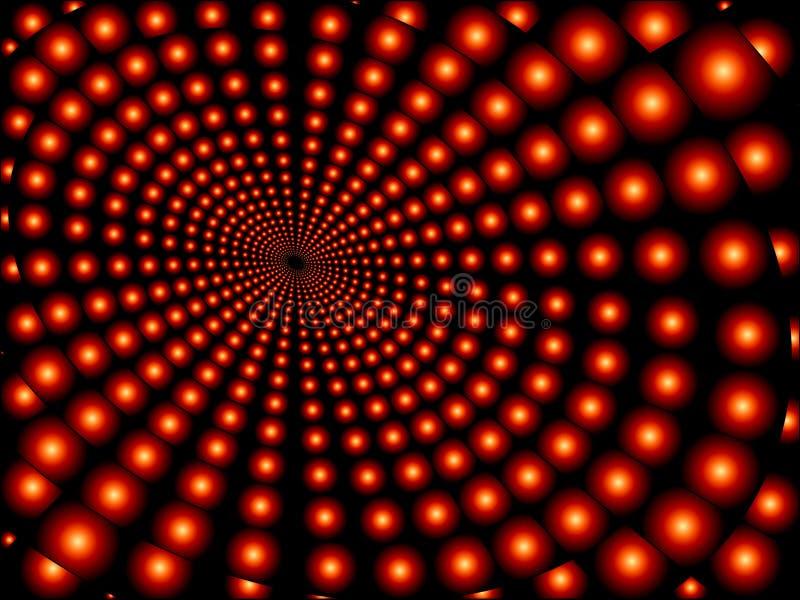红色聚合的天体 向量例证