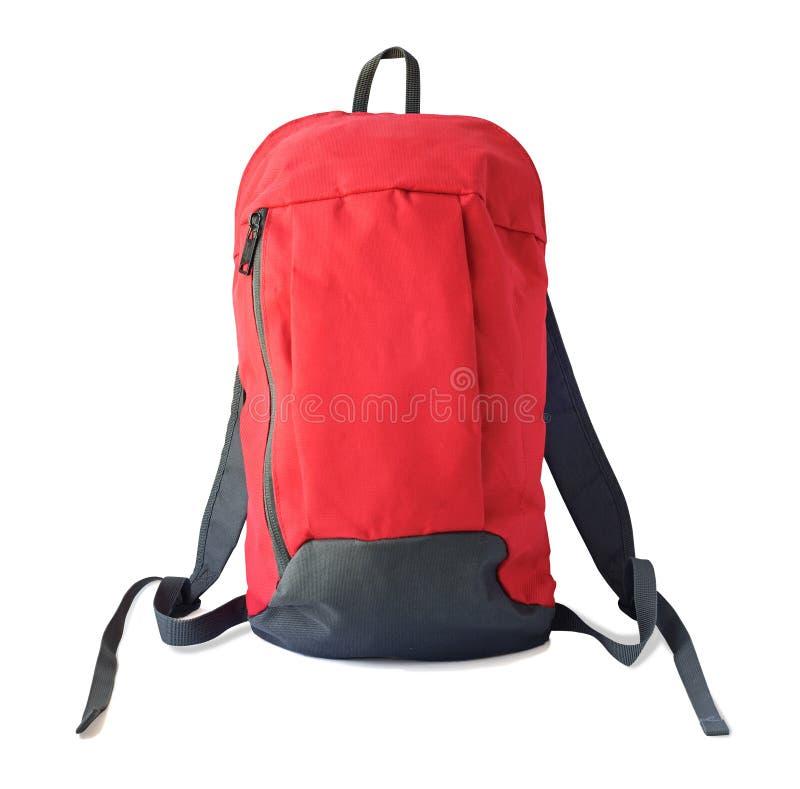 红色背包正面图  库存图片