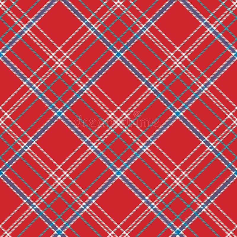 红色背景检查织品纹理无缝的样式 库存例证