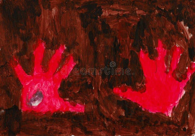 红色背景棕色的现有量 免版税图库摄影