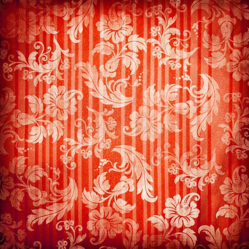 红色背景 库存例证