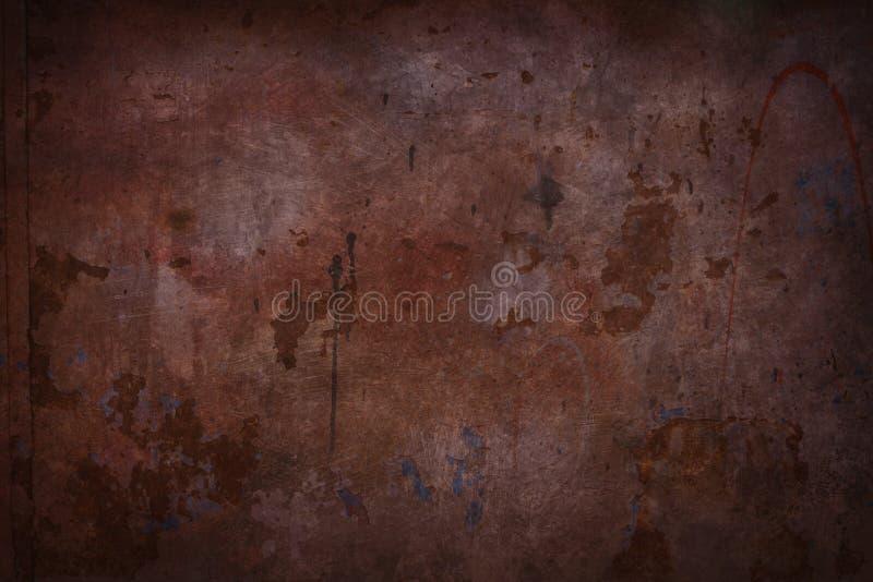 红色脏的墙壁 库存图片