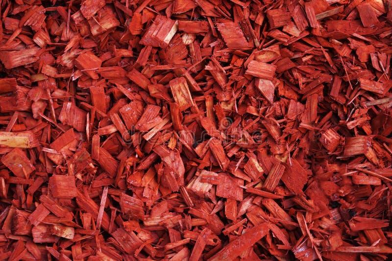 红色自然木片覆盖树根样式背景 库存图片