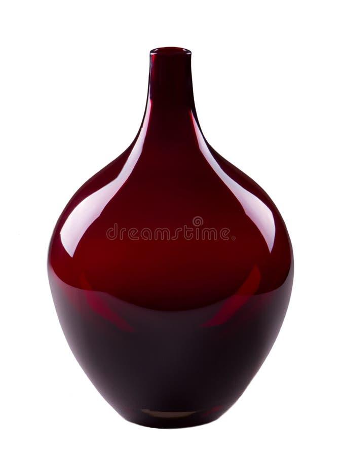 红色花瓶 免版税图库摄影