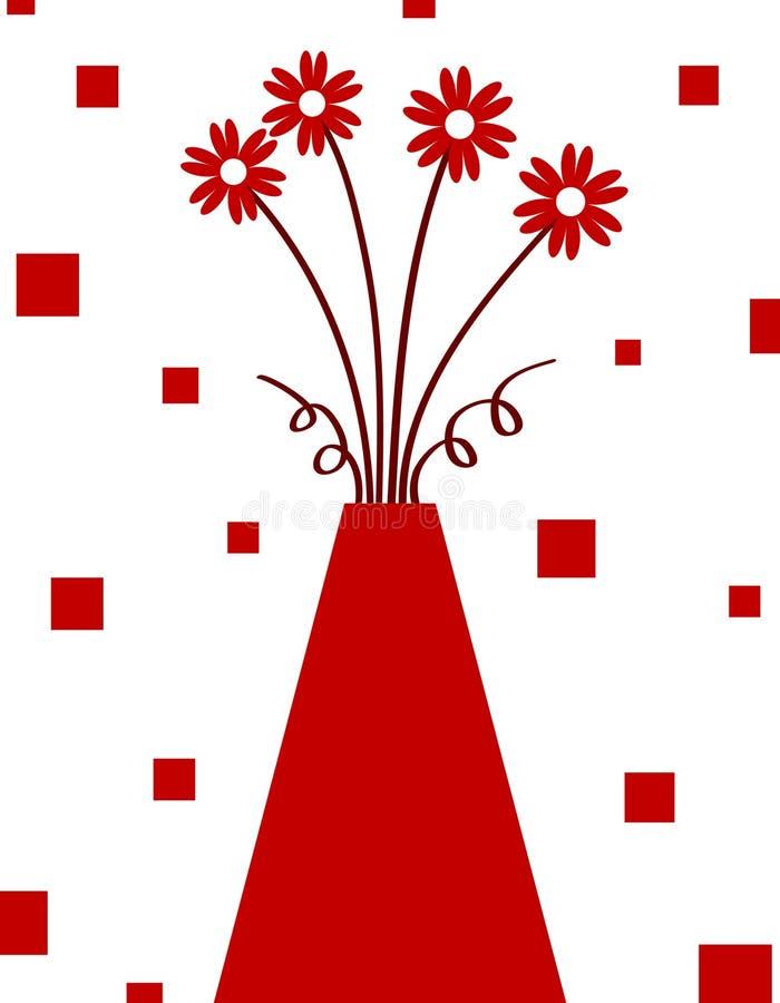 红色花瓶 库存例证