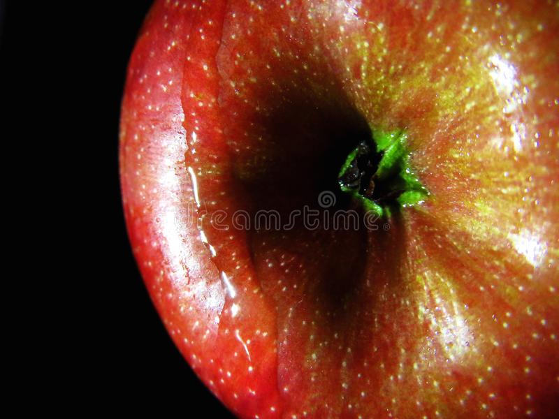 红色苹果宏指令 库存图片