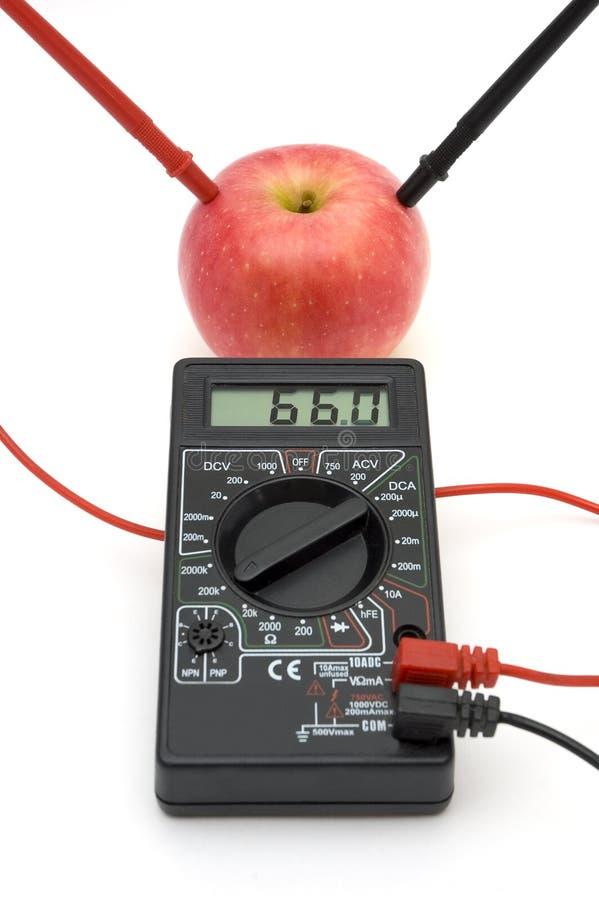 红色苹果能源  免版税图库摄影