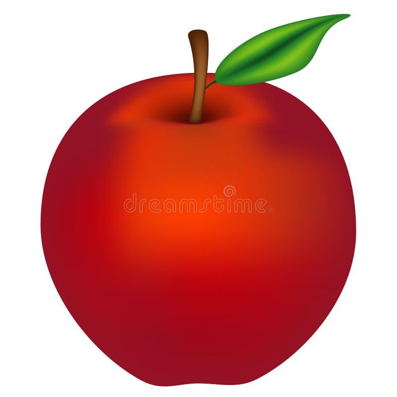 红色苹果 向量例证