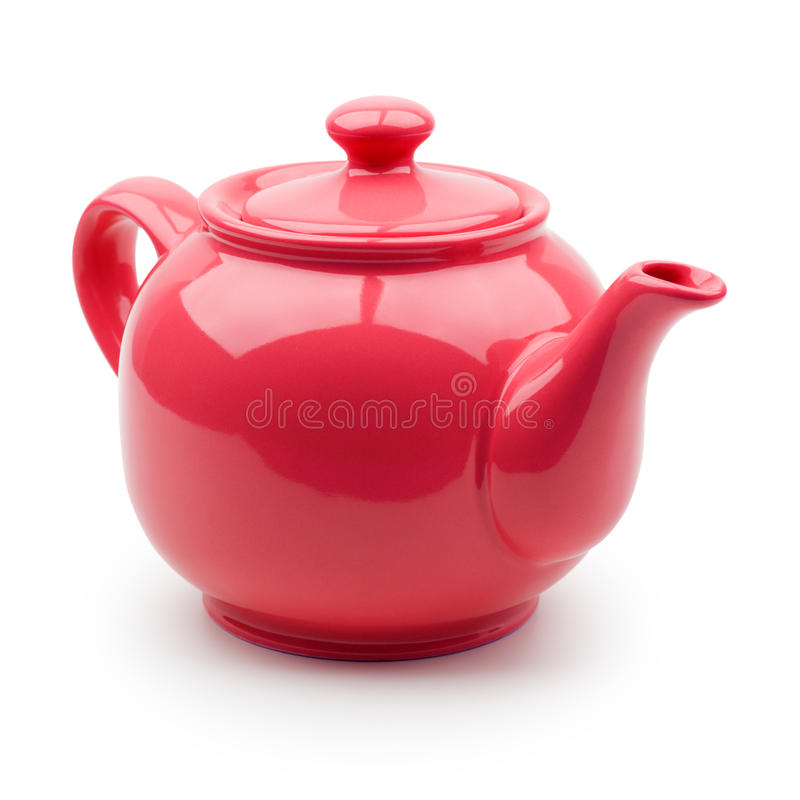 红色茶壶 库存照片