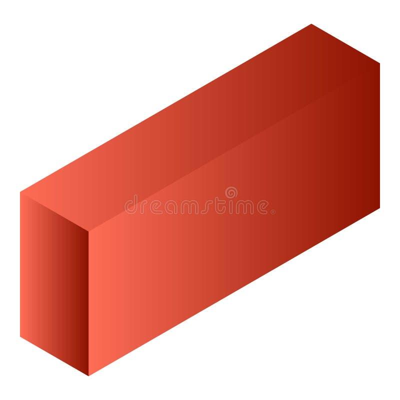红色茶箱子象,等量样式 向量例证