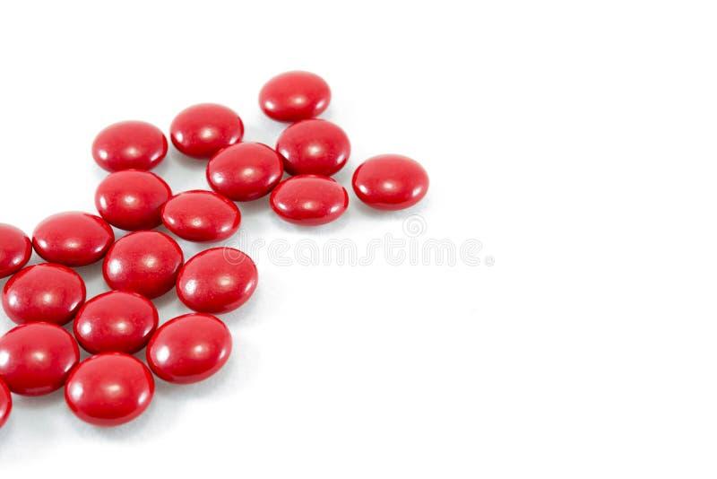 红色药片 库存照片