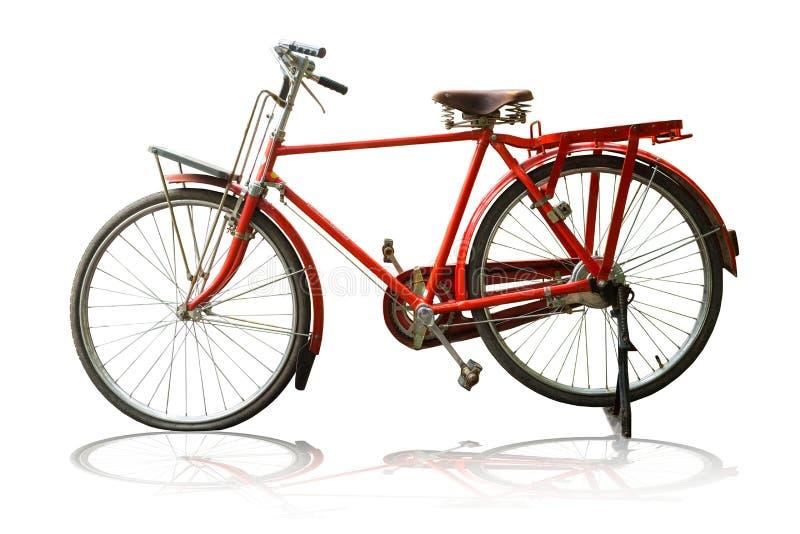 红色葡萄酒自行车 免版税库存图片
