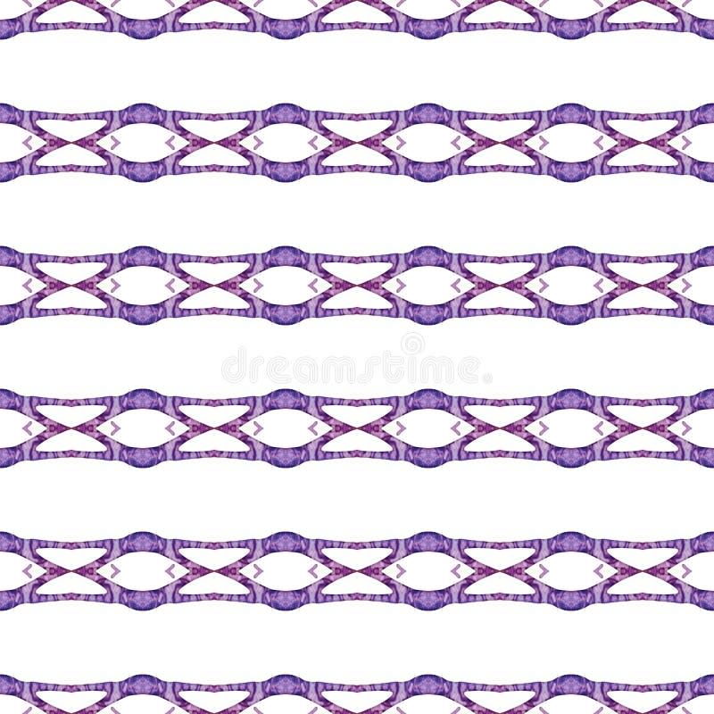 红色蓝色几何无缝的样式 手拉的wa 向量例证