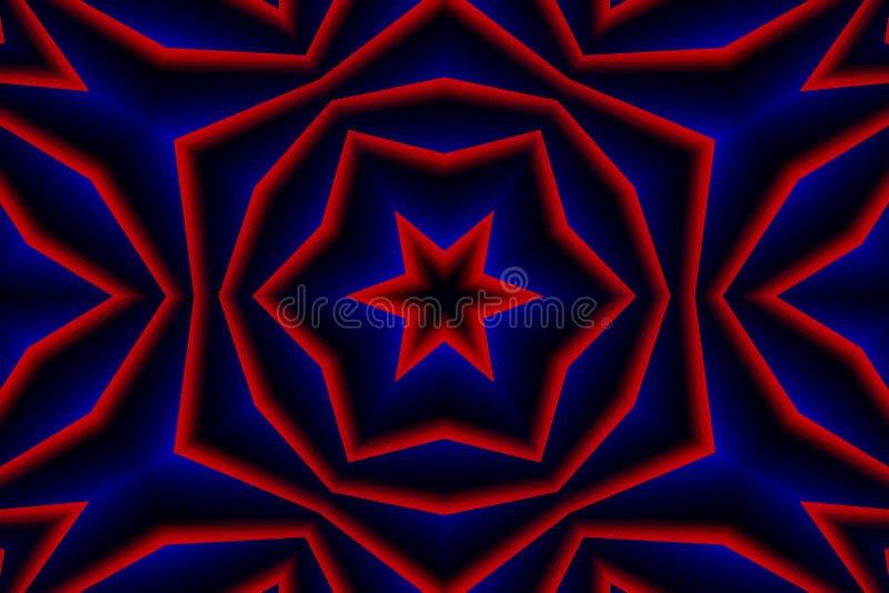 红色蓝色抽象背景 免版税库存图片