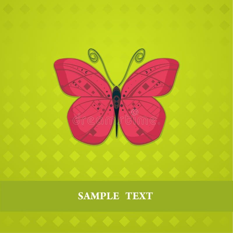 红色蝴蝶 向量例证
