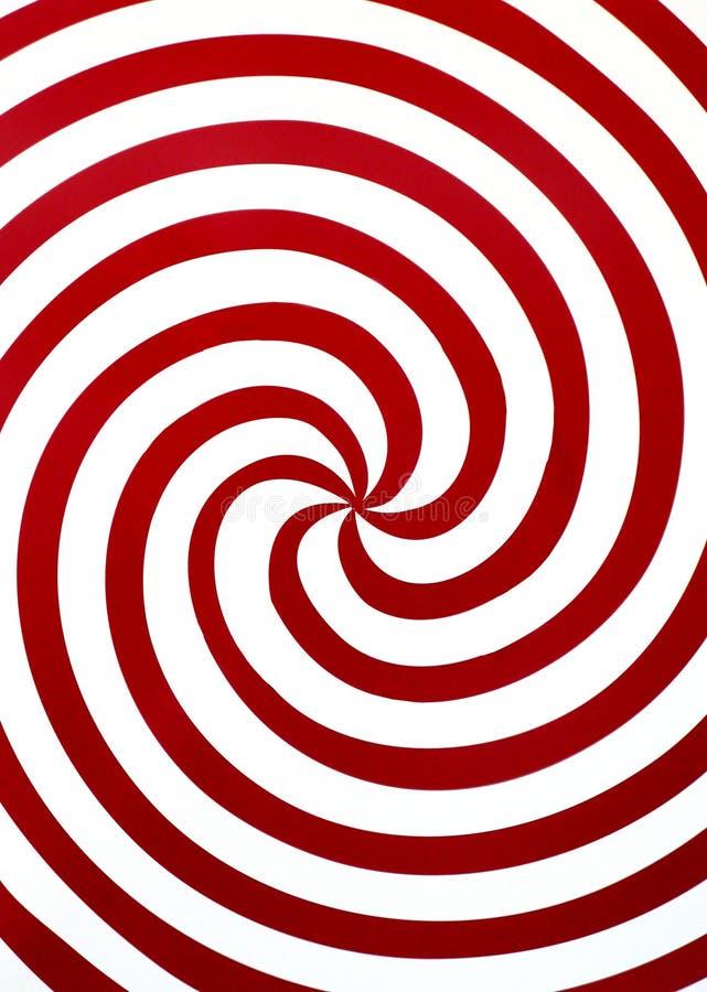 红色螺旋 库存例证