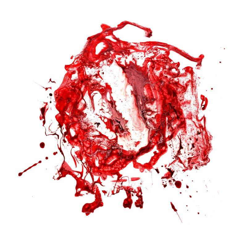 红色血液墨水污点与 设计的纹理 情人节,婚礼,保存日期卡片 库存照片