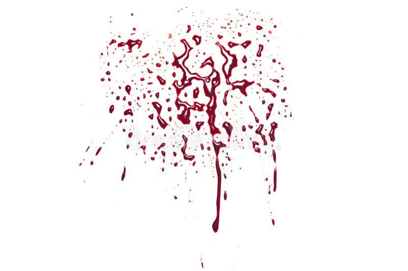 红色血液泼溅物 库存照片