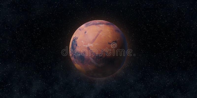 红色行星火星 天文和科学概念 美国航空航天局装备的这个图象的元素 免版税库存图片